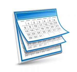 Regular Eye Exam Calendar